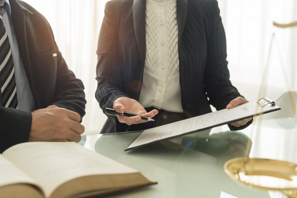 Businessman seeking for legal advice
