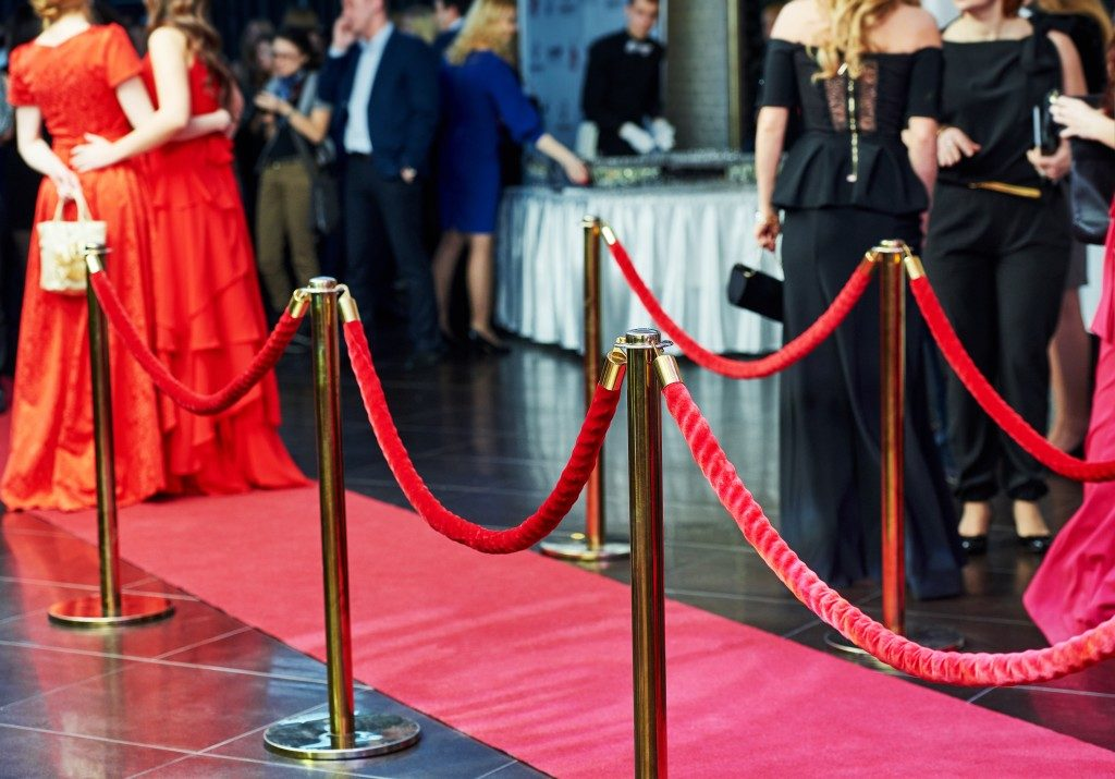 red carpet in a company event