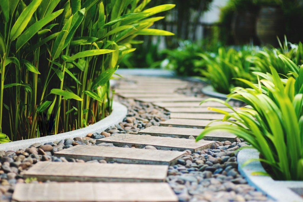 stoned garden pathway