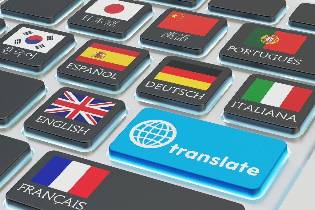 Different languages concept