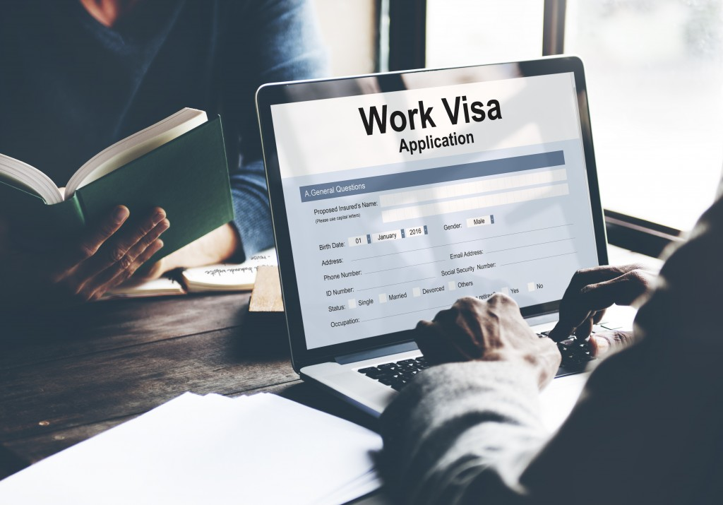 person applying for work visa