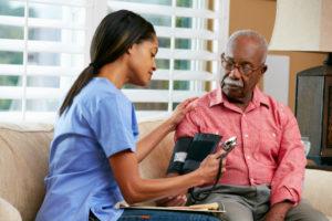healthcare worker with patient